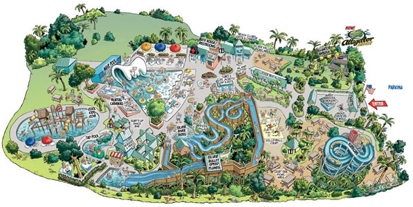 Silver Springs Florida Map.Wild Waters Water Park In Ocala Silver Springs Fl